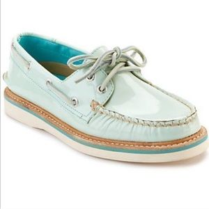 Sperry Top-Sider Mint Boat Shoes size 8 Women's